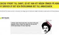 vykort till Dawit